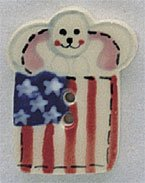 86126 - Bunny With Flag 3/4in x 1in - 1 per pkg